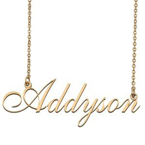 Custom Personalized Addyson Name Necklace